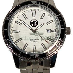 Horloge MG logo zilver