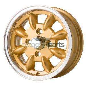 Minilite Mini 12 inch x 5J goud gepolijst