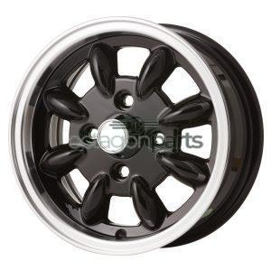 Minilite Mini 12 inch x 5J zwart gepolijst