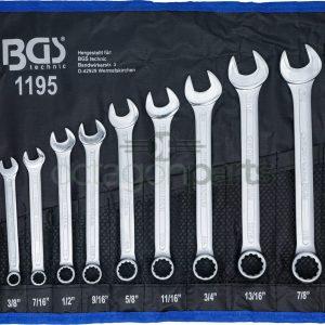 Steek- Ringsleutelset - Inch maten - 12 delig - BGS1195