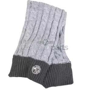 Sjaal MG logo - Gebreid - grijs met wit logo