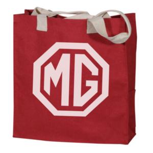 Tas MG logo - rood met crème logo